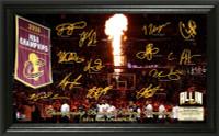 Cleveland Cavaliers 2016 Championship Banner Raising Signature Court LE