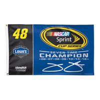 Jimmie Johnson 2016 NASCAR Sprint Cup Champion 3' x 5' Flag