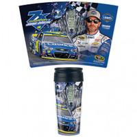 Jimmie Johnson 2016 NASCAR Sprint Cup Champion Contour Travel Mug 16 Oz