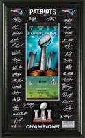 New England Patriots  Super Bowl LI Champions Signature Ticket Framed LE 5000
