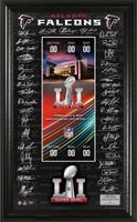 Atlanta Falcons  Super Bowl LI Signature Ticket Framed LE 5000
