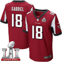 Atlanta Falcons Taylor Gabriel Nike Red Super Bowl LI Bound Game Jersey