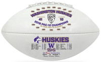 Washington Huskies 2016 Pac 10 Champions Leather Football w/Scores LE 5000