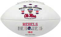 Ole Miss Rebels 2016 Sugar Bowl Champions Leather Football w/Scores LE 5000