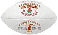 USC Trojans 2016 Rose Bowl Champions Leather Football w/Scores LE 5000