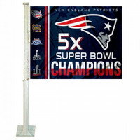 New England Patriots 5X 2016 Super Bowl LI Champions Car Flag