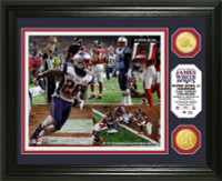New England Patriots James White Super Bowl LI Champions Winning TD 2pc Bronze Coin Photo Mint LE 2,017