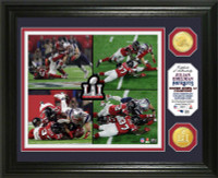 "New England Patriots Julian Edelman Super Bowl 51 ""Catch"" 2pc Bronze Coin Photo Mint LE 2,017"