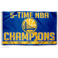 Golden State Warriors 5-Time NBA Finals Champions 3' x 5' Flag
