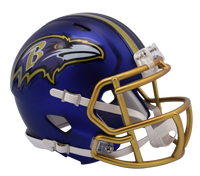 Baltimore Ravens NFL Blaze Revolution Speed Riddell Mini Football Helmet