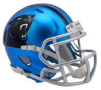 Carolina Panthers NFL Blaze Revolution Speed Riddell Mini Football Helmet