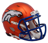Denver Broncos NFL Blaze Revolution Speed Riddell Mini Football Helmet