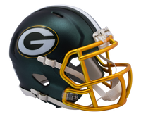 Green Bay Packers NFL Blaze Revolution Speed Riddell Mini Football Helmet