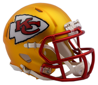 Kansas City Chiefs NFL Blaze Revolution Speed Riddell Mini Football Helmet