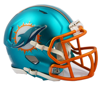 Miami Dolphins NFL Blaze Revolution Speed Riddell Mini Football Helmet