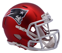 New England Patriots NFL Blaze Revolution Speed Riddell Mini Football Helmet