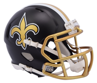 New Orleans Saints NFL Blaze Revolution Speed Riddell Mini Football Helmet