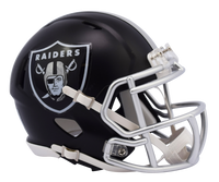 Oakland Raiders NFL Blaze Revolution Speed Riddell Mini Football Helmet
