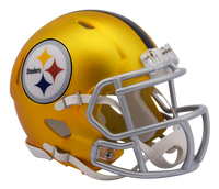 Pittsburgh Steelers NFL Blaze Revolution Speed Riddell Mini Football Helmet