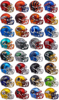 NFL Team Set of 32 Blaze Revolution Speed Riddell Mini Football Helmets