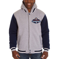 Houston Astros 2017 World Series Champions Reversible Two-Tone Fleece Full-Snap Jacket - Gray/Navy
