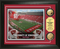 Wisconsin Badgers 2pc Gold Coin Special Edition Photo Mint LE 500