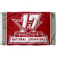 Alabama Crimson Tide 2017 CFP 17-Time National Championship 3' x 5' Flag