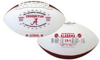 Alabama Crimson Tide 2017 CFP 17-Time National Championship Leather Football LE 5,000