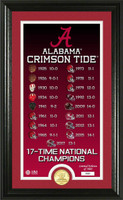 Alabama Crimson Tide 2017 CFP 17-Time National Championship Legacy Bronze Coin Photo Mint LE 5,000