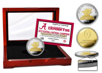 Alabama Crimson Tide 2017 Football National Championship 2-Tone 24 Gold and Silver Mint Coin LE 5,000