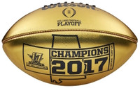 Alabama Crimson Tide 2017 CFP National Championship Gold Wilson Leather Football