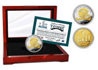 Philadelphia Eagles Super Bowl LII Champions 2-Tone Gold and Silver Coin w/Case LE 5,000