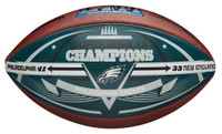 Philadelphia Eagles Super Bowl LII Champions Wilson Silver Metallic Leather Football LE