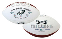 Philadelphia Eagles Super Bowl LII Champions Leather Football LE