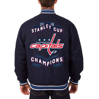 Washington Capitals 2018 Stanley Cup Champions Reversible All-Wool Jacket – Navy