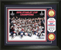 Washington Capitals 2018 NHL Stanley Cup Champions Celebration Gold Coin Photo Mint LE 5,000