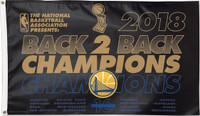 Golden State Warriors Back to Back NBA Champions 3' x 5' Team Flag
