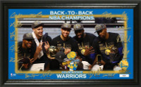Golden State Warriors Back to Back NBA Champions Celebration Signature Court LE 5,000