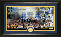 """Golden State Warriors 2018 NBA Champions """"Parade"""" Panoramic Gold Coin Photo Mint LE 5,000"""
