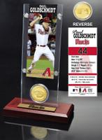 Paul Goldschmidt Ticket & Bronze Coin Acrylic Desk Top