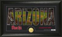 Arizona Diamondbacks Silhouette Bronze Coin Photo Mint