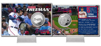 Freddie Freeman Silver Coin Card