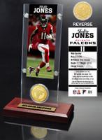 Julio Jones Ticket & Bronze Coin Acrylic Desk Top