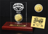 Auburn Tigers 2014 Iron Bowl Gold Game Coin with Engraved Display