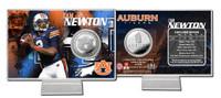 Cam Newton Auburn Silver Coin Card