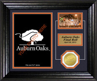 Auburn Oaks Framed Memories Bronze Coin Photo mint