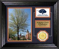Auburn Oaks Dedication Bronze Coin Desktop Photo Mint