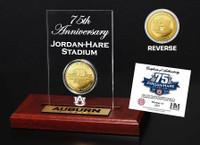 Jordan Hare Stadium 75th Anniversary Gold Flip Coin