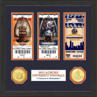 """*Auburn Tigers """"Season to Remember"""" Ticket and Coin Collection"""