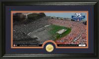 Jordan Hare Stadium 75th Anniversary Bronze Coin Pano Photo Mint
